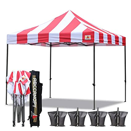 Image Unavailable  sc 1 st  Amazon.com & Amazon.com: ABCCANOPY Deluxe 10x10 Ez Pop Up Canopy Carnival Canopy ...