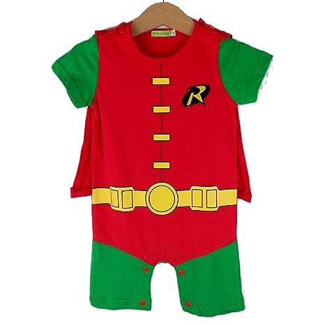 Disfraz de Robin de Boy Superhero Comic para bebé Pelele Party/Fancy Dress/disfraz