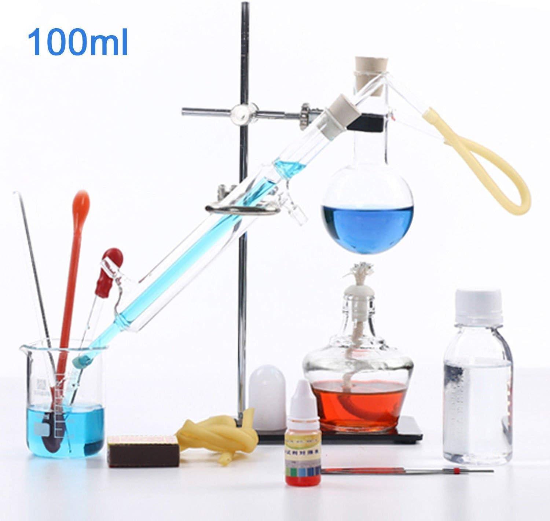 lqgpsx 250ml-1000ml Aparato de destilación de Laboratorio Destilador de Agua Purificador Kits de cristalería con ...