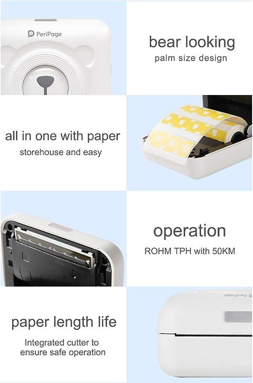 DZSF Impresora térmica Bluetooth Mini Pocket Photo Impresora de ...