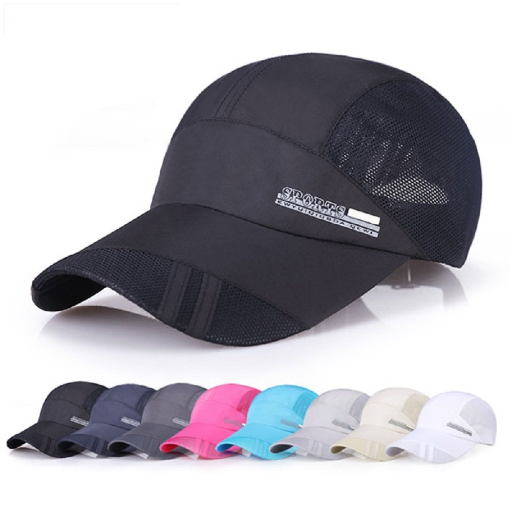 GTI Unisex Men Hat Thin Breathable Quick Dry Outdoor Sunshade Mesh Baseball Cap (Blue)