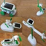 Homeleii 6-in-1 Educational Solar Kit DIY Solar Energy Toys Children Kids Training Toy