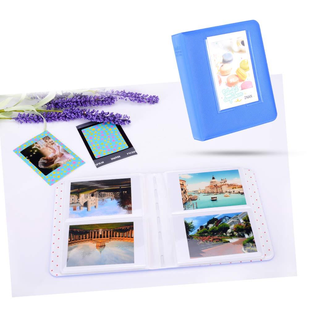 Selfie Objektiv//Filter Wand Hang Frames//Film Rahmen//Border Sticker//Pen Kamera mit Mini 9 Case//Album Ice Blue KAKA 13 in 1 Instax Mini 9 Kamera Zubeh/ör Set f/ür FujiFilm Instax Mini 9 8 8