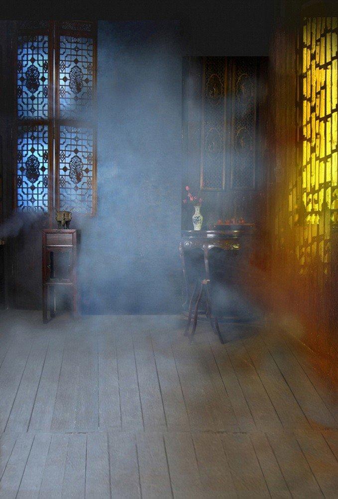 A Monamour Foggy Mistインドア古代中国部屋木製床ウェディングStudio小道具5 x 7ft写真の背景幕ビニール   B01KTOC234