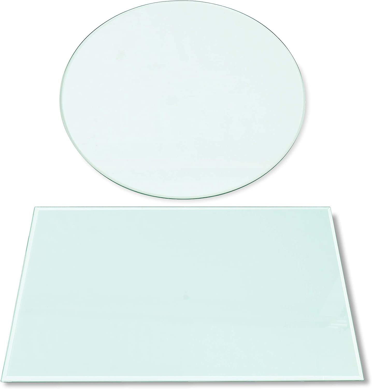 Rapid Teck® 185€m² Glasplatte Rund Durchm. 300 mm Glastisch Tischplatte aus gehärtetem Glas Tisch Glasscheibe 8mm Dick