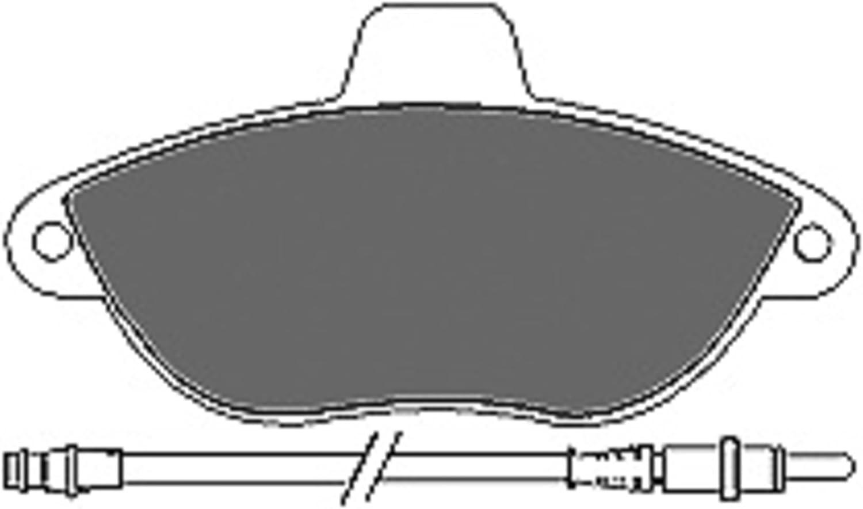 frein /à disque Mapco 6475 Kit de plaquettes de frein