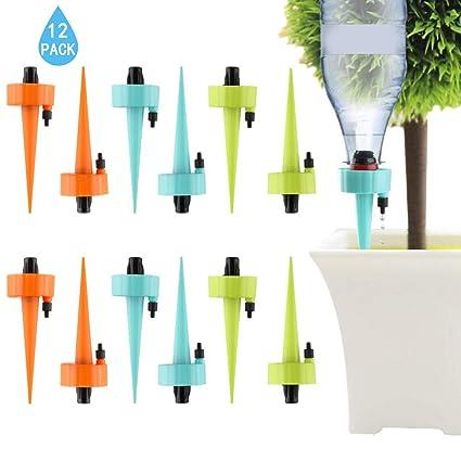 2 x Globos de sistema de riego de plantas Auto Aqua Cestas Colgantes Bombillas de interior fuera