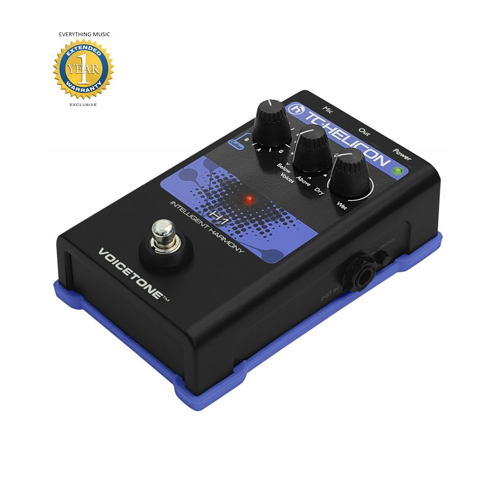 TC-Helicon VoiceTone H1 Vocal Harmony Effect Pedal with 1 Year EverythingMusic Extended Warranty Free