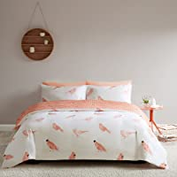 SCM Cardiff Gentleman Birds Printed Reversible Quilt Cover and Pillowcase, 100% Cotton Bedding Set