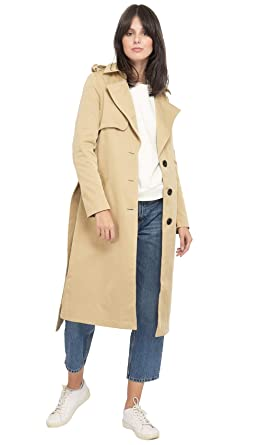 6a84cdebb4 On Parle de Vous Trench Coat Long Femme: Amazon.fr: Vêtements et ...