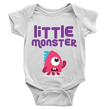 4062b4eb8 Little Monster Girl Babygrow Funny New Baby Girl Present Cool Gift ...