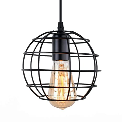 c5320232580 Amazon.com  OYI Globe Cage Pendant Lighting Fixture