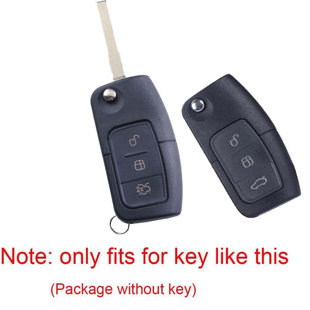 Angelguoguo Red ABS Key Case Cover Fob Holder for Ford MONDEO FOCUS ST FIESTA