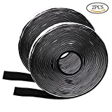 wotu 2 Pcs Hook Loop Tape, 5M Deavy Duty Adhesive Sticky Tape Reusable Fasteners Tape Super Sticky Glue Velcro Strap