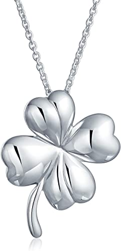 Infinity with Four Leaf Clover Necklace 925 Sterling Silver Lucky Shamrock NEW
