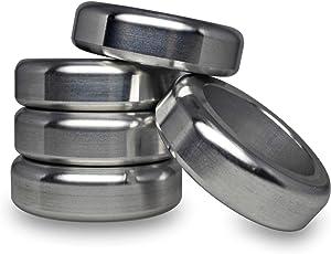 DODOFUN Upgrade Version Bisquette Savers for Bradley Smoker Wood Spacer Aluminum Pucks BBQ (Pack of 5)