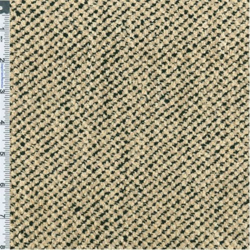 Black/Cream Chenille Upholstery Fabric, Fabric Sold By the Yard
