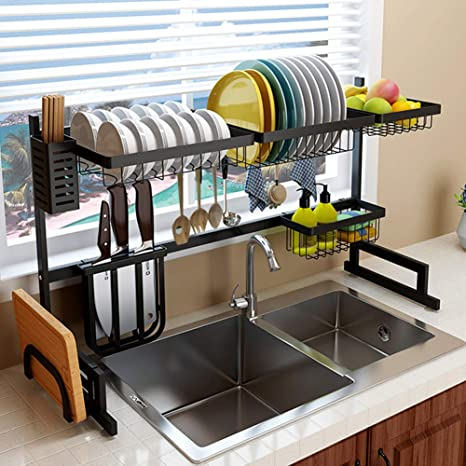 Over The Sink Dish Drying Rack.Slsy Over Sink Dish Drying Rack Dishes Drainer Over The Sink Stainless Steel Drain Shelf Multifunctional Above Kitchen Sink Organizer For Sink Size