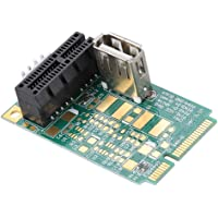 Diyeeni Mini PCI-E to PCI Express 1x Slot Adapter Card, MPCIe to PCIe Converter Riser Card Support PCI-e 4X/8X/16X Cards/USB Ports