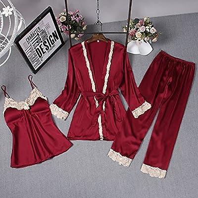 nouveau sélection sélectionner pour authentique acheter Wanglele Pyjama Femme Satin De Soie De Printemps Et D'Été ...