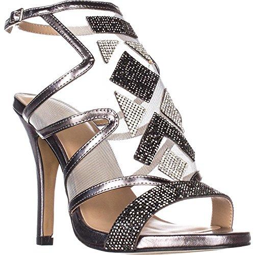 Pumps Toe Thalia Regalo Sodi Classic Open Strap Ankle Pewterw Womens 866pIqB