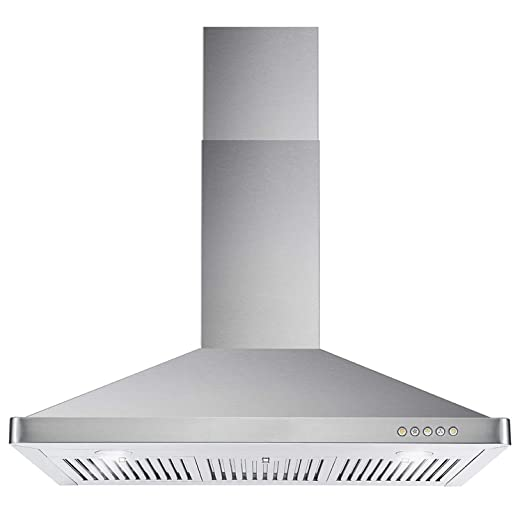 Cosmo 63190 36-in Wall-Mount Range Hood 760-CFM | Ducted / Ductless  Convertible Duct , Kitchen Chimney-Style Over Stove Vent LED Light , 3  Speed ...