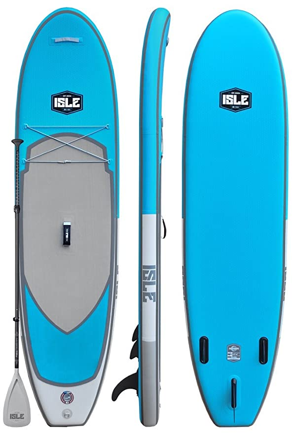 "Best Inflatable SUP Boards : ISLE Airtech Inflatable 10'6"" All Around Stand Up Paddle Board"
