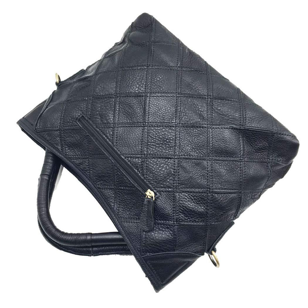 Läder dam handväska resa axelväska topphandtag messengerväska färgmatchande handväska Färg