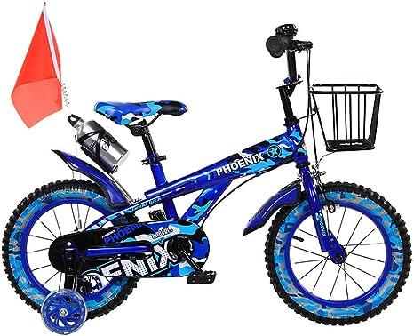TSDS Bicicleta para niños Bicicleta de montaña roja/Azul/Verde de la Moda al Aire Libre de la Bicicleta con la Jaula de la Botella: Amazon.es: Deportes y aire libre