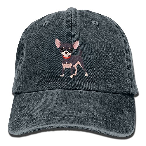 IEHFE Men Women Classic Denim Chihuahua Adjustable Baseball Cap Dad Hat Low Profile Perfect For Outdoor
