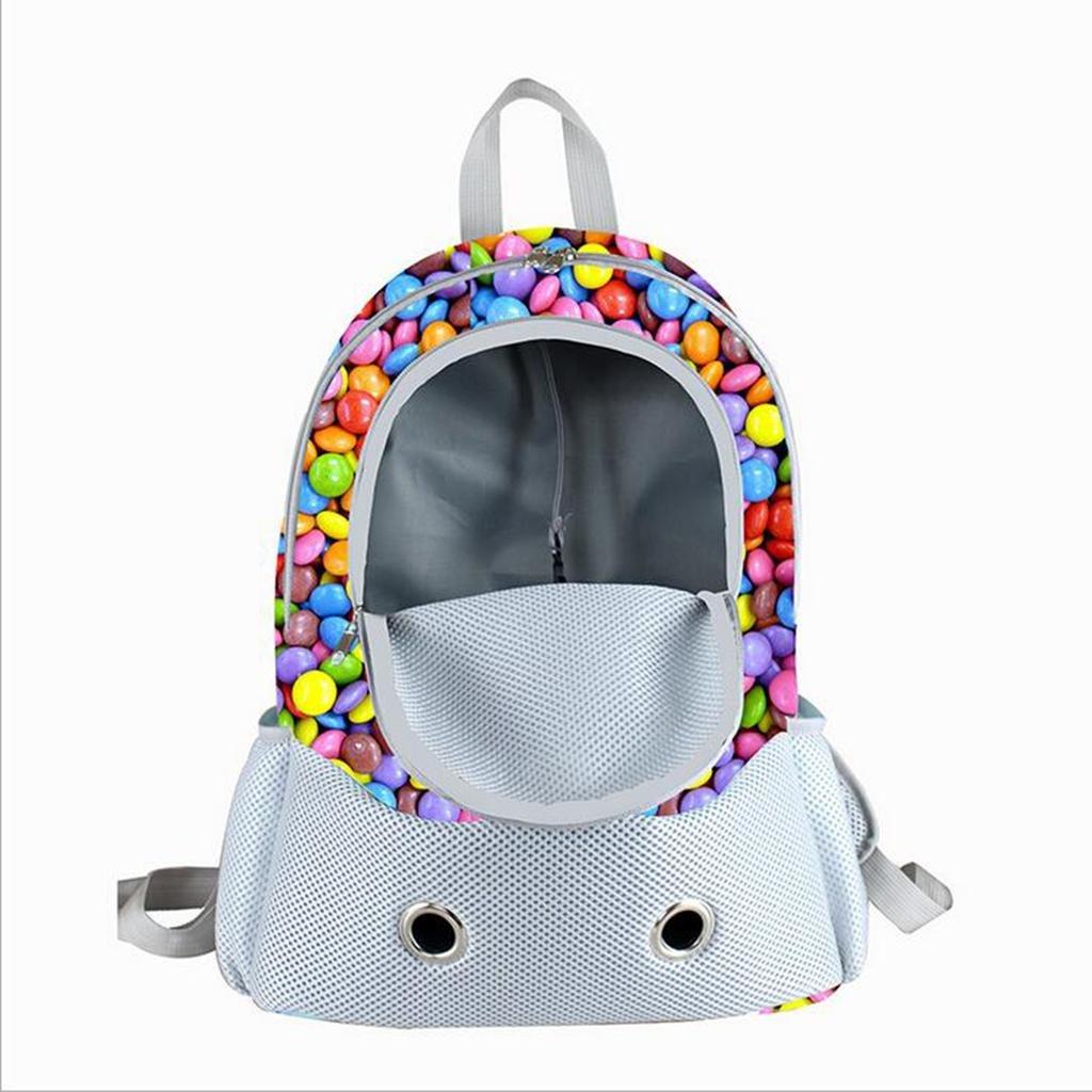 Xueyan& Hunde und Katzen atmungsaktiv Umhängetasche Brust Pakete Tasche Stil tragbare Haustier aus tragbaren Taschenhandtasche, rainbow beans