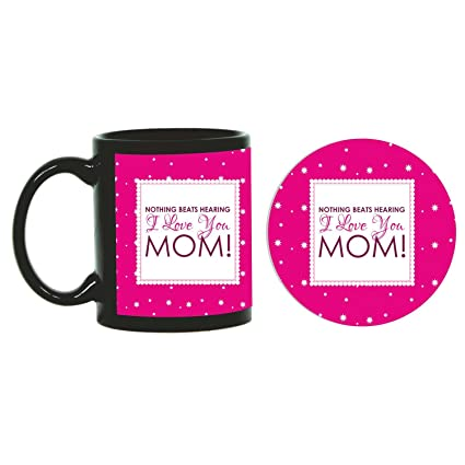 Buy Funky Store Birthday Gifts For Mother I Love You Mom Theam Ceramic Mug With Coaster Online At Low Prices In India