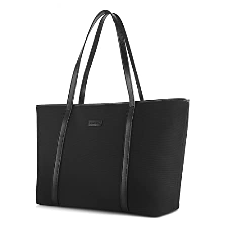 913ac1c3e5f0 CHICECO Basic Large Work Tote Bag Shoulder Bag for Women Fits up tp 14 Inch  Laptops Black  Amazon.co.uk  Luggage