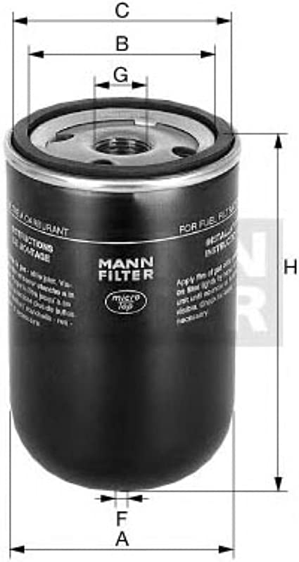 Filtro de combustible pp904 Filtron