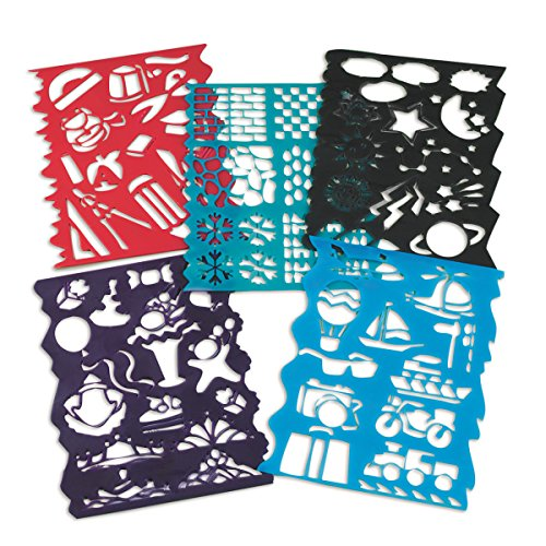 Plastic Stencils Assorted Designs pack product image