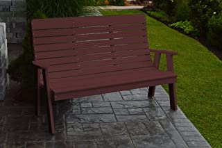 product image for Outdoor Winston Garden Bench - 5 Feet - Cherrywood Poly Lumber