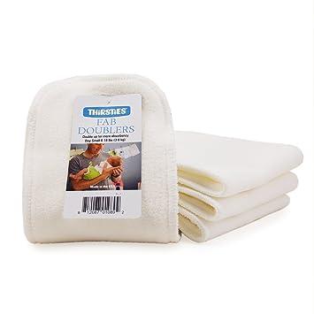 Thirsties Organic Cotton Doubler Newborn White Diapers