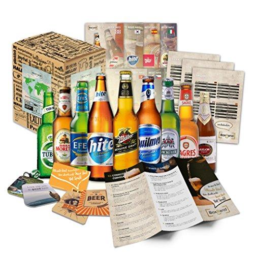 Bier Geschenk Set mit ausländischen Bieren Geburtstagsgeschenk für Freund Geburtstagsgeschenk für Männer oder lustige…