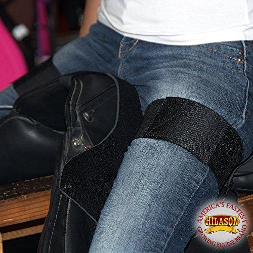 HILASON Anti Slip Grip Horse English Saddle SEAT Cover Barrel Trail Black from HILASON