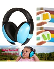 Kid Earmuff, Baby Ear Protection Earmuffs Safety Ear Protection Noise Cancelling Comfortable Adjustable Snug Fit for Kids (1 Month ~ 5 Years old) on Odd Loud Wedding, Sporting Event, Noisy Party, Shooting, Airplane Trips - Blue