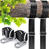 Tree Swing Straps Adjustable Hanging Kit - 2X Heavy Duty 4ft Strap Complete Set - Seat, Tire Swings, Hammocks & More Outdoor Hanger - Your Baby, Toddler, Kids Safety First