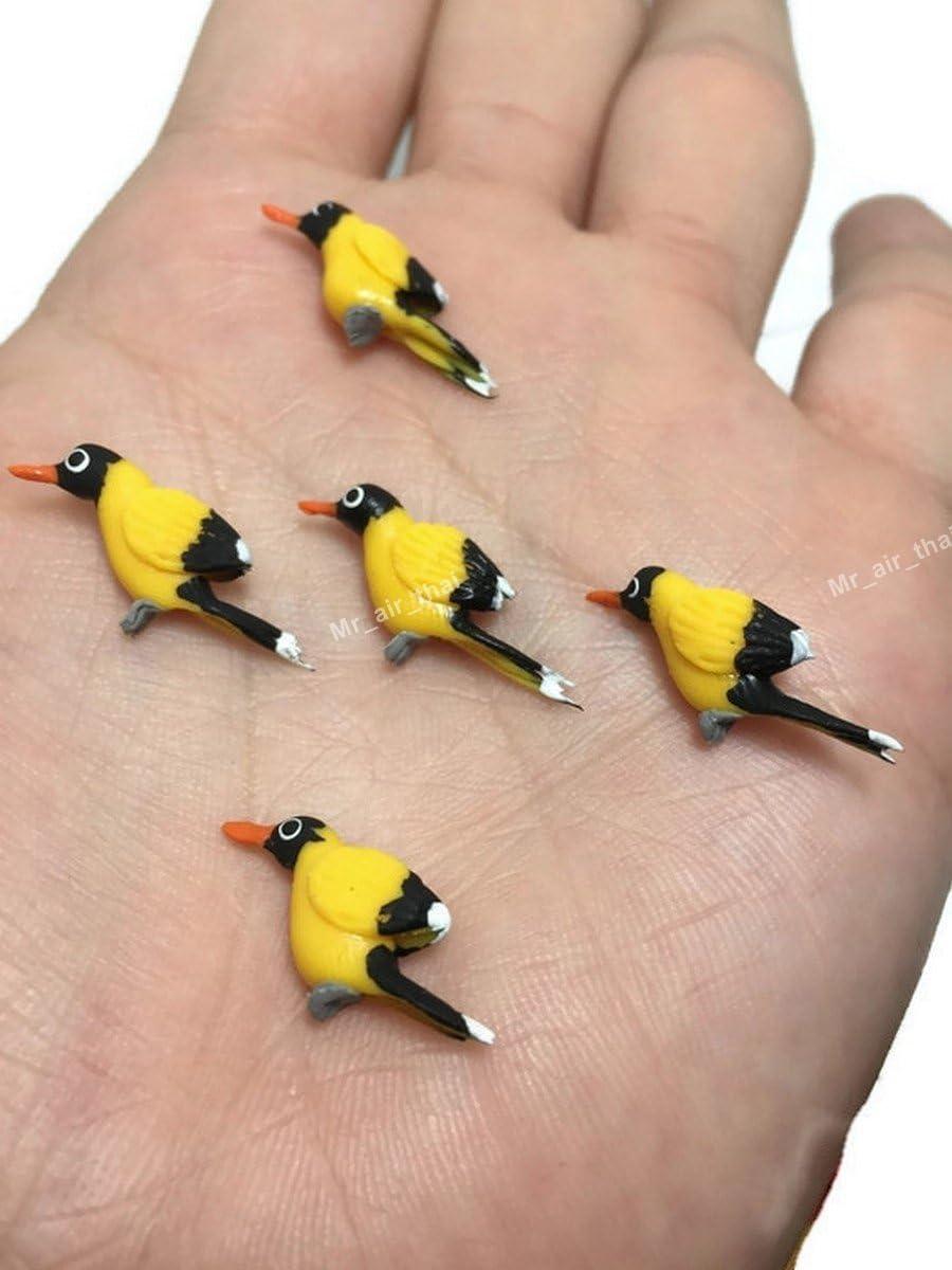 Lot of 12 Miniature Bird (Canary) Fairy Garden Supplies Animal Figurine Furniture Dollhouse GD#012