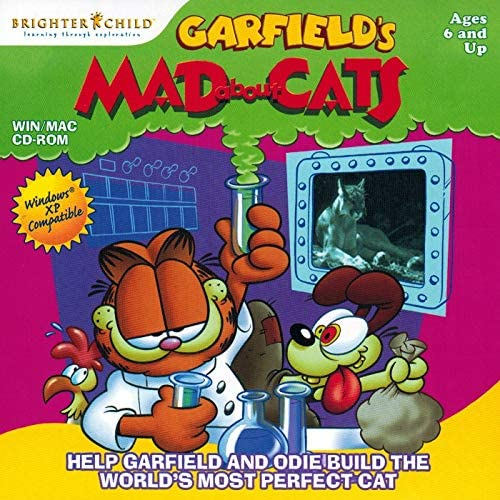 Amazon Com Garfield S Mad About Cats Interactive Cd Rom