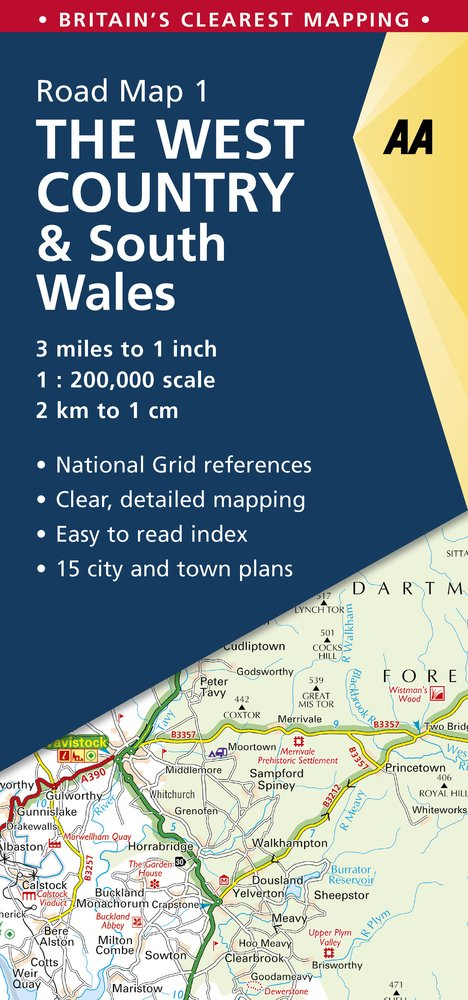 West Country & South Wales (AA Road Map Britain) [Idioma Inglés]