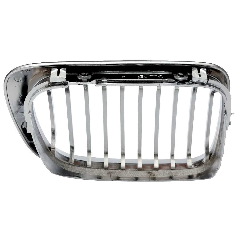Homyl 2 Pieces Silver Front Hood Grill Chrome Grille Mesh for BMW E46 M3 3 Series