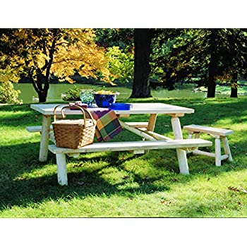 Amazon Com Bryant Faux Wood Picnic Table Garden Amp Outdoor