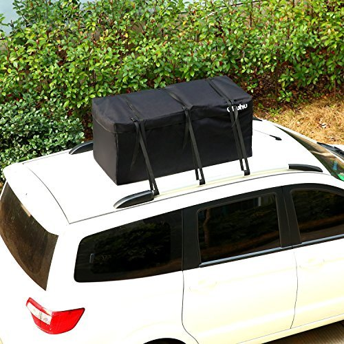 Ohuhu Cargo Bag, 15 Cubic Feet Waterproof Cargo Carrier, Expandable Hitch Tray Roof Top Cargo Bag, Fire Resistant by Ohuhu