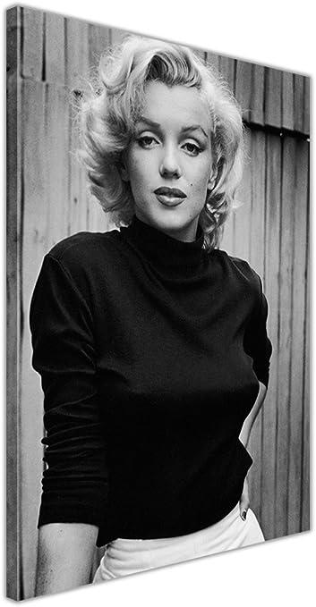 Canvas It Up Noir et Blanc Marilyn Monroe Mode Prendre des Photos D/écoration Murale sur Toile encadr/ée Home Deco Imprime Taille 30,5/x 20,3/cm A4 30/cm x 20/cm