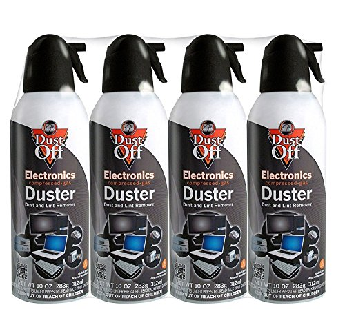 (Dust-Off Disposable Compressed Gas Duster, 10 oz Cans, 4 Pack)