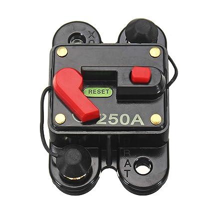 Waterproof Solar System Car Inline Circuit Breaker Reset Fuse Inverter 40A